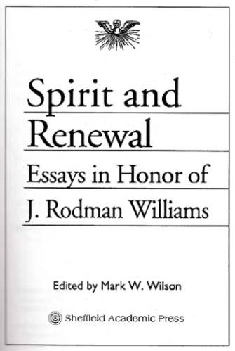 Spirit and Renewal